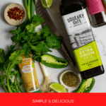 chimichurri ingredients on a kitchen counter top