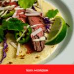 steak taco carne asada style on a plate