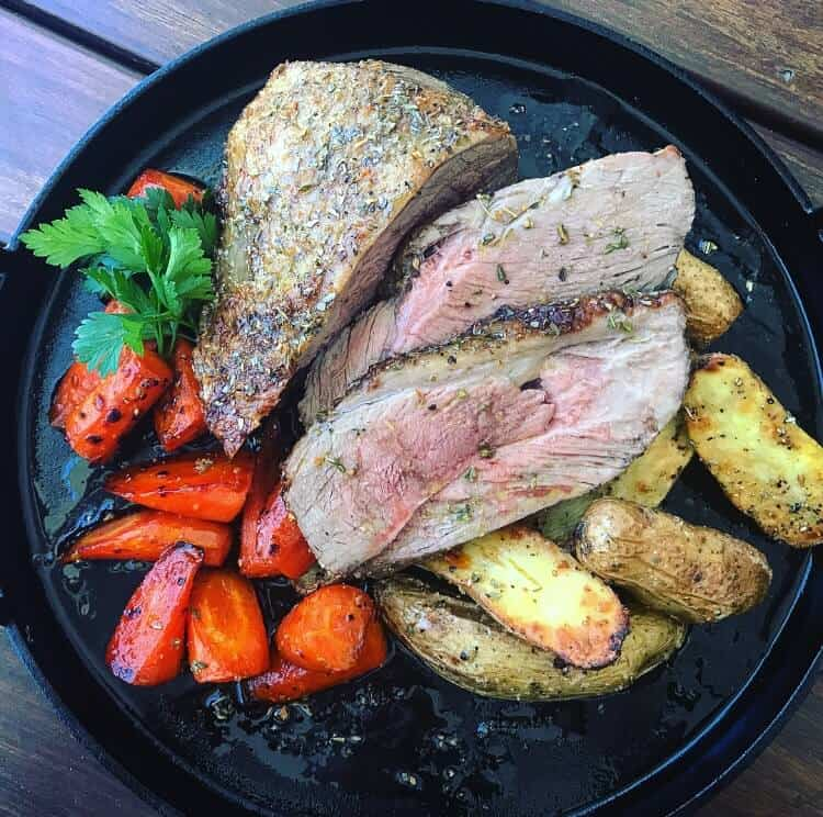 Citrus rubbed veal