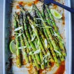 grilled asparagus, pastry brush & lime