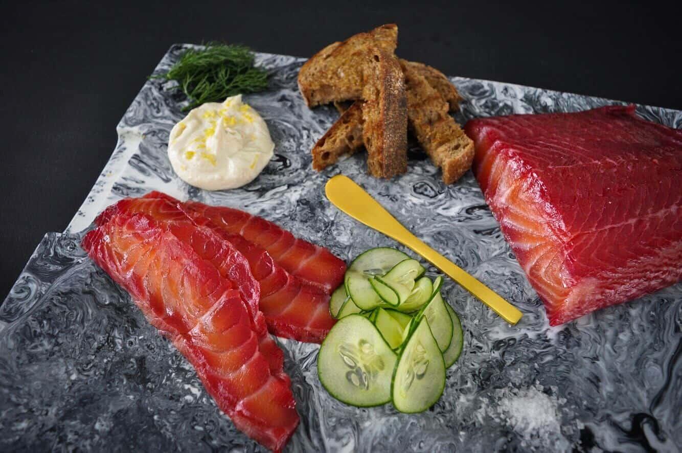 Gin & Beet Cured Salmon