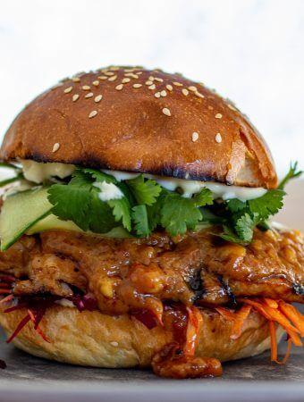 Chicken Satay Sandwich