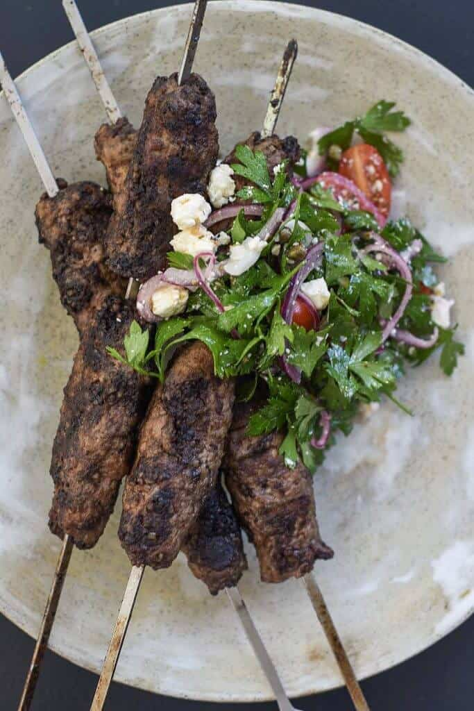 Grilled Lamb Skewers