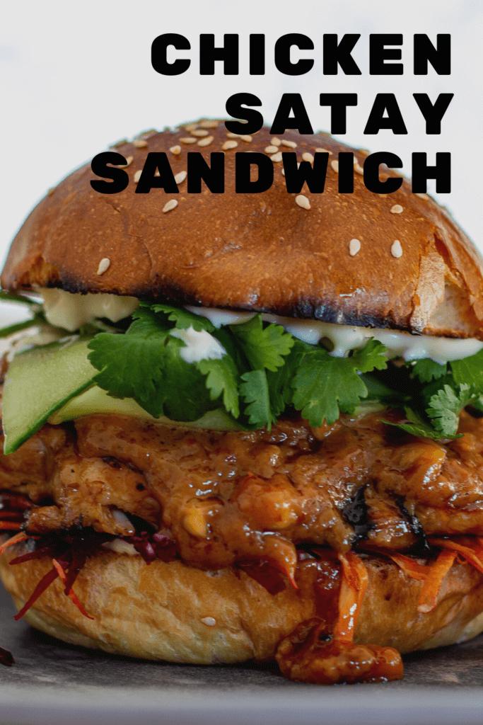Grilled chicken satay sandwich