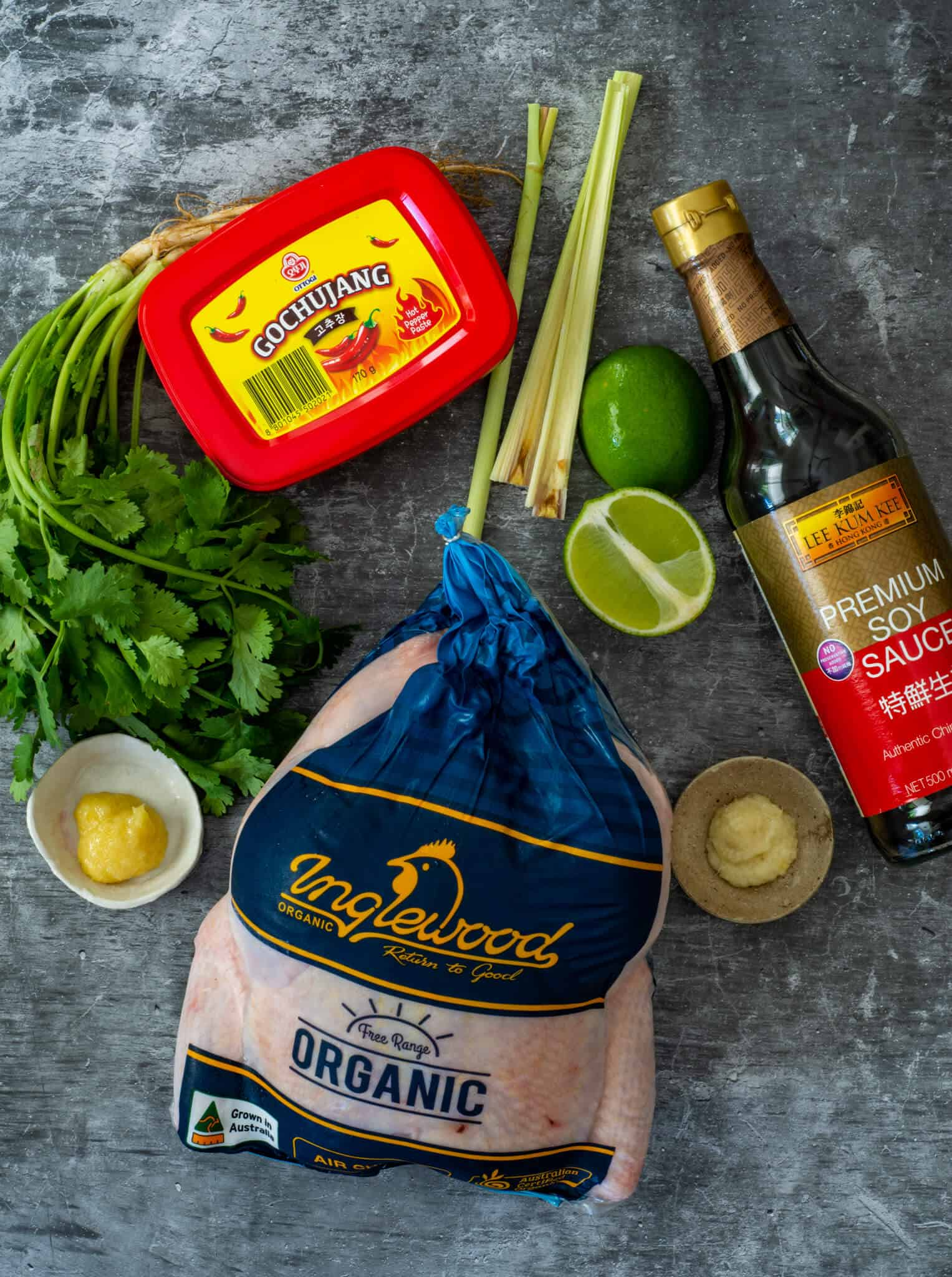 BBQ korean chicken ingredients