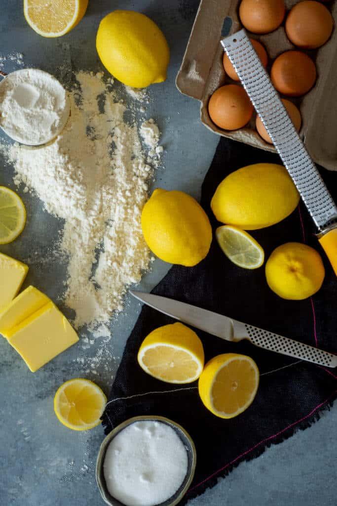 Lemon square ingredients
