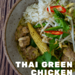 thai green curry in a bowl