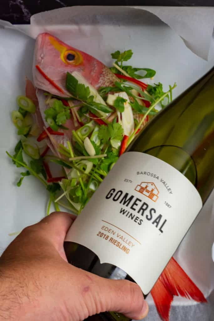 hussar with Asian aromatcs & Gomersal Riesling