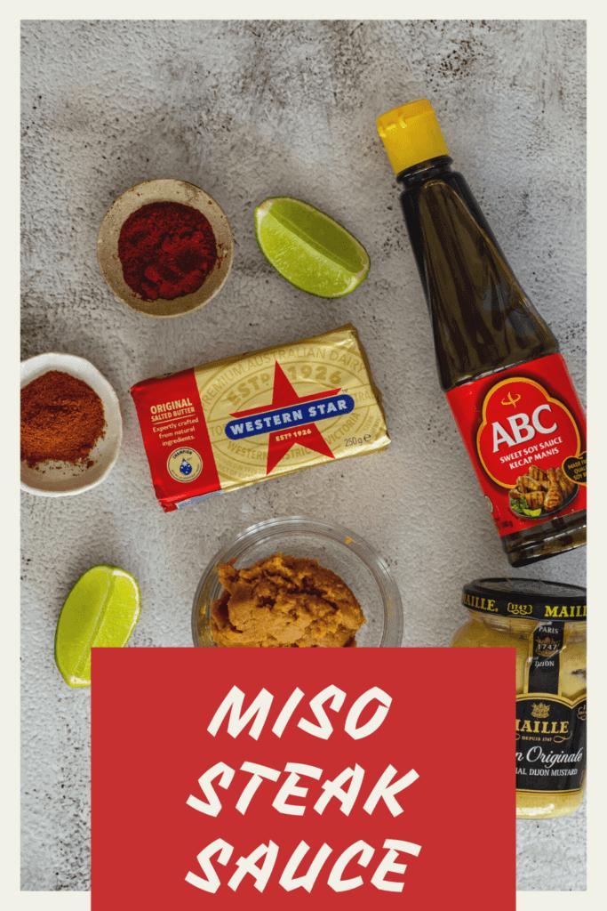 Miso steak sauce ingredients