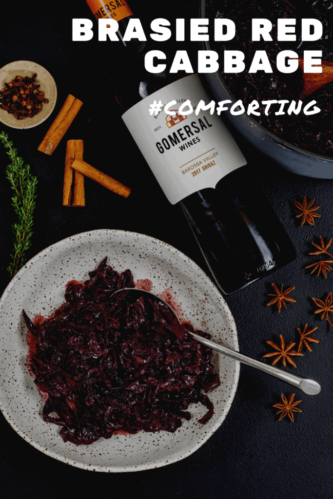 cooked red cabbage, gomeral shiraz and spices