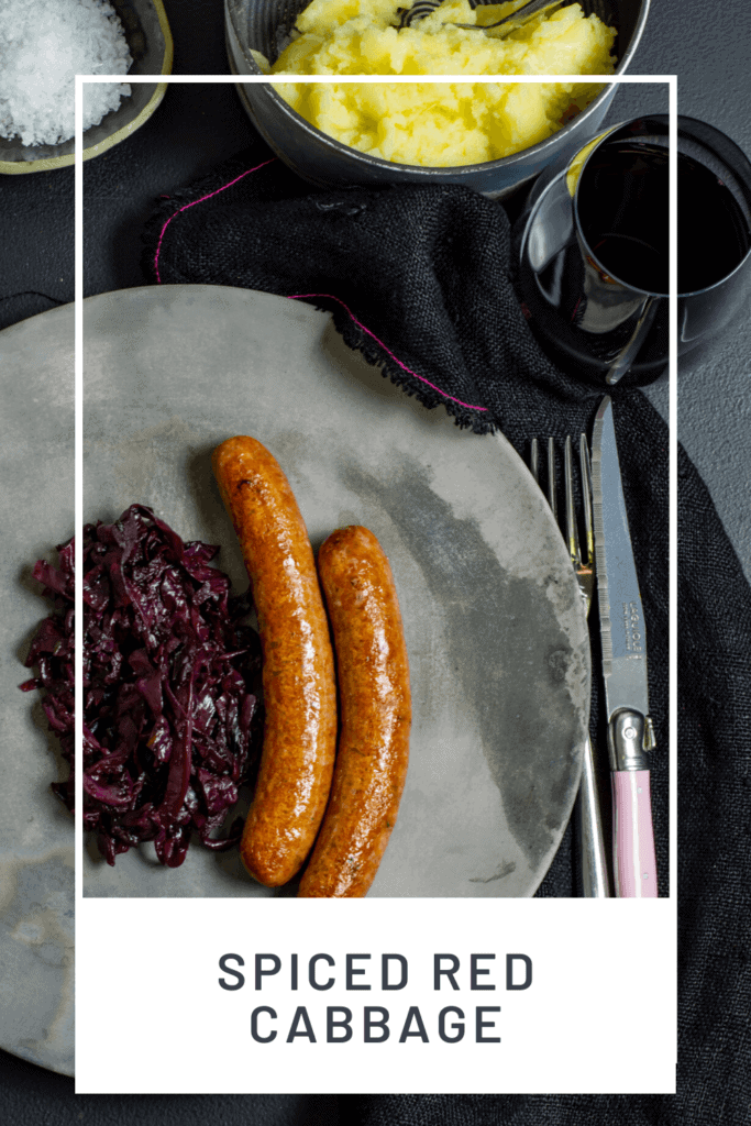 sausages, mashed potatoes and glass of red wine