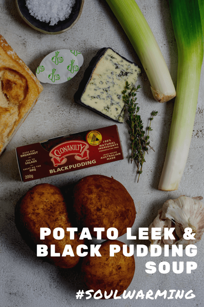 Potato & leek soup ingredients
