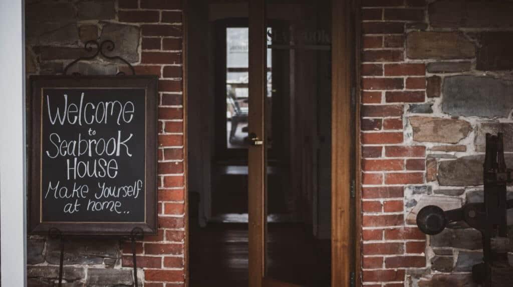Seabrook winery front door