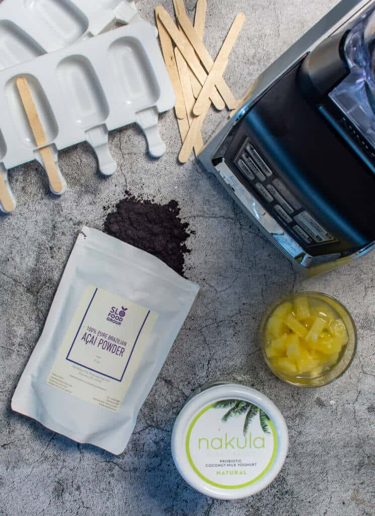 ninja blender, acai, pineapple & nakula coconut yoghurt