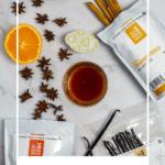 slofoodgroup cinnamon, madagascar vanilla. anise & orange on kitchen counter