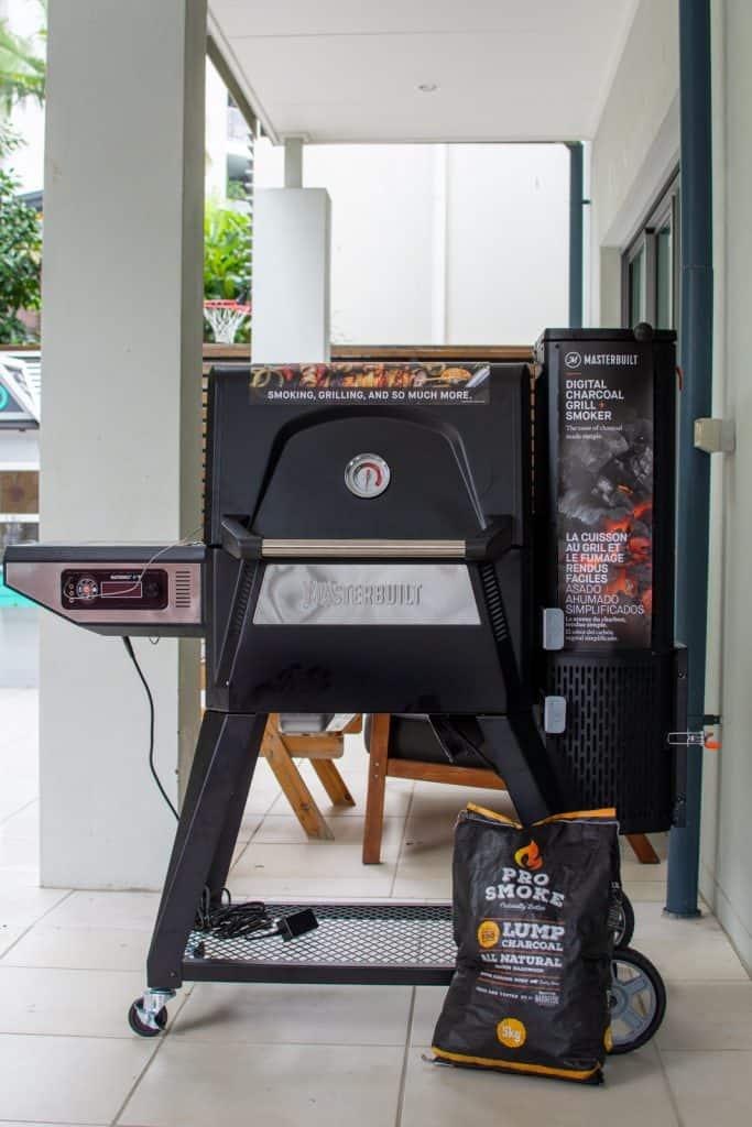masterbuilt bbq with pro smoke charcoal
