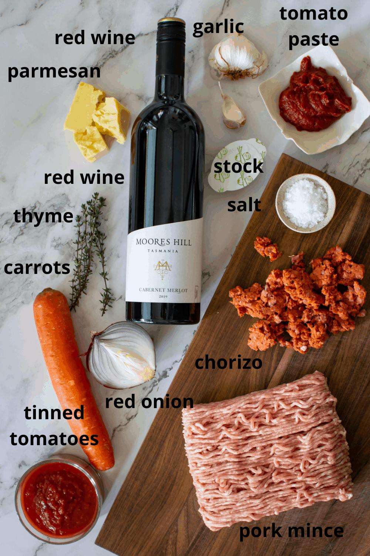 ingredients to make pork mince recipe